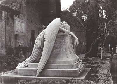 Fallen Angel, in a cemetary somewhere in Rome